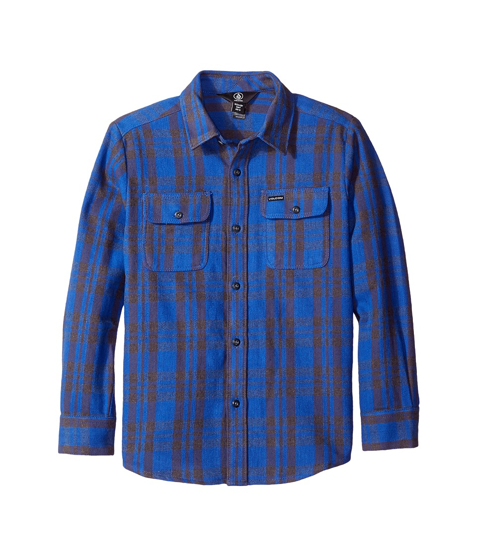 Volcom Kids - Copeland Long Sleeve Top (Little Kids/Big Kids) (Smokey Blue) Boy's Long Sleeve Button Up