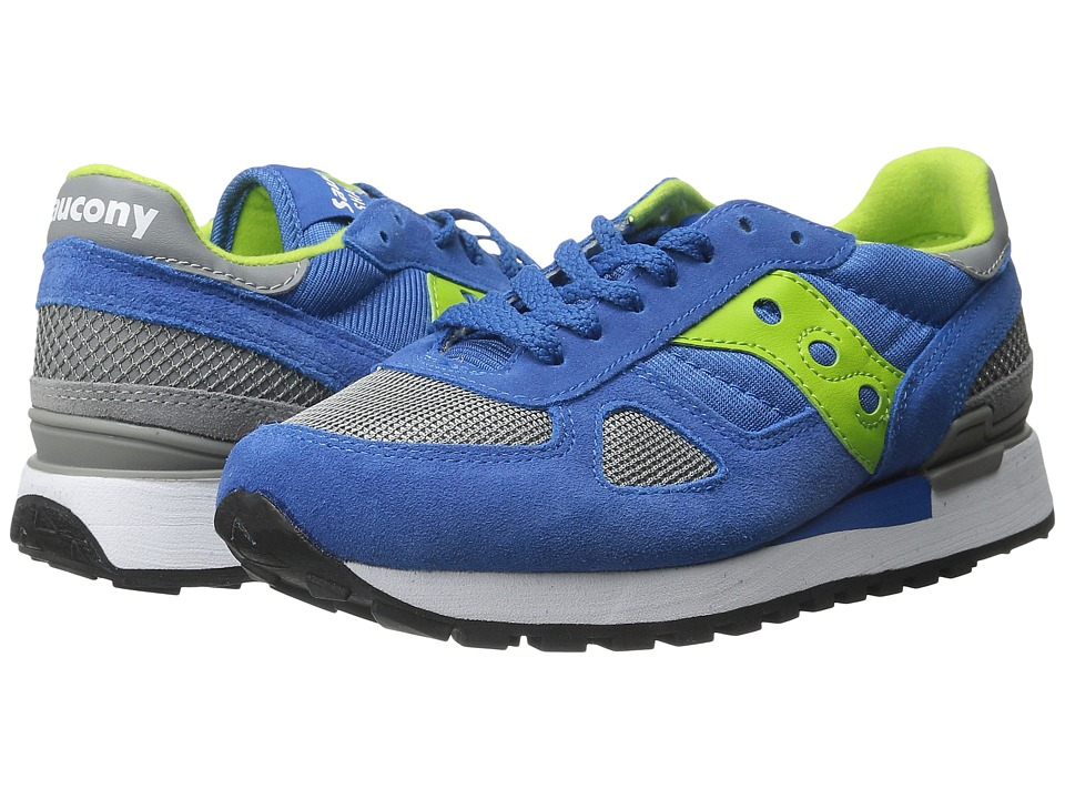 Saucony Originals - Shadow Original (Blue/Bright Green) Women's Classic Shoes