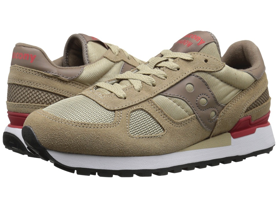 Saucony Originals - Shadow Original (Beige/Red) Men's Lace up casual Shoes