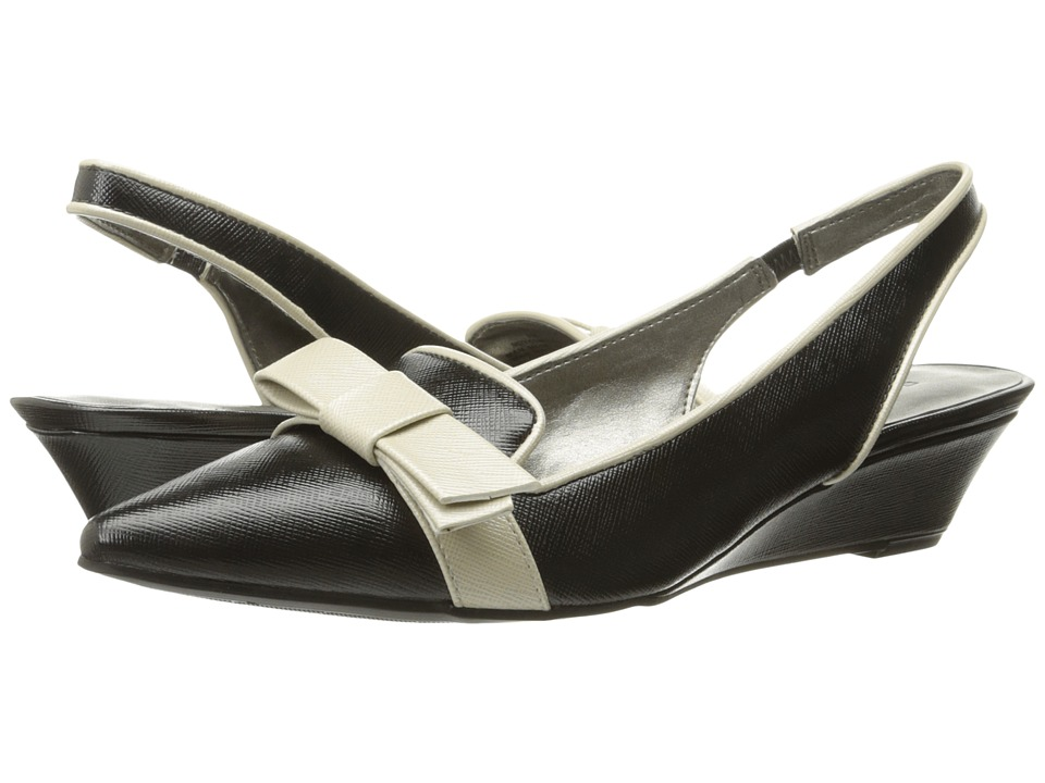 Bandolino - Yesminna (Black/Natural) Women's Wedge Shoes
