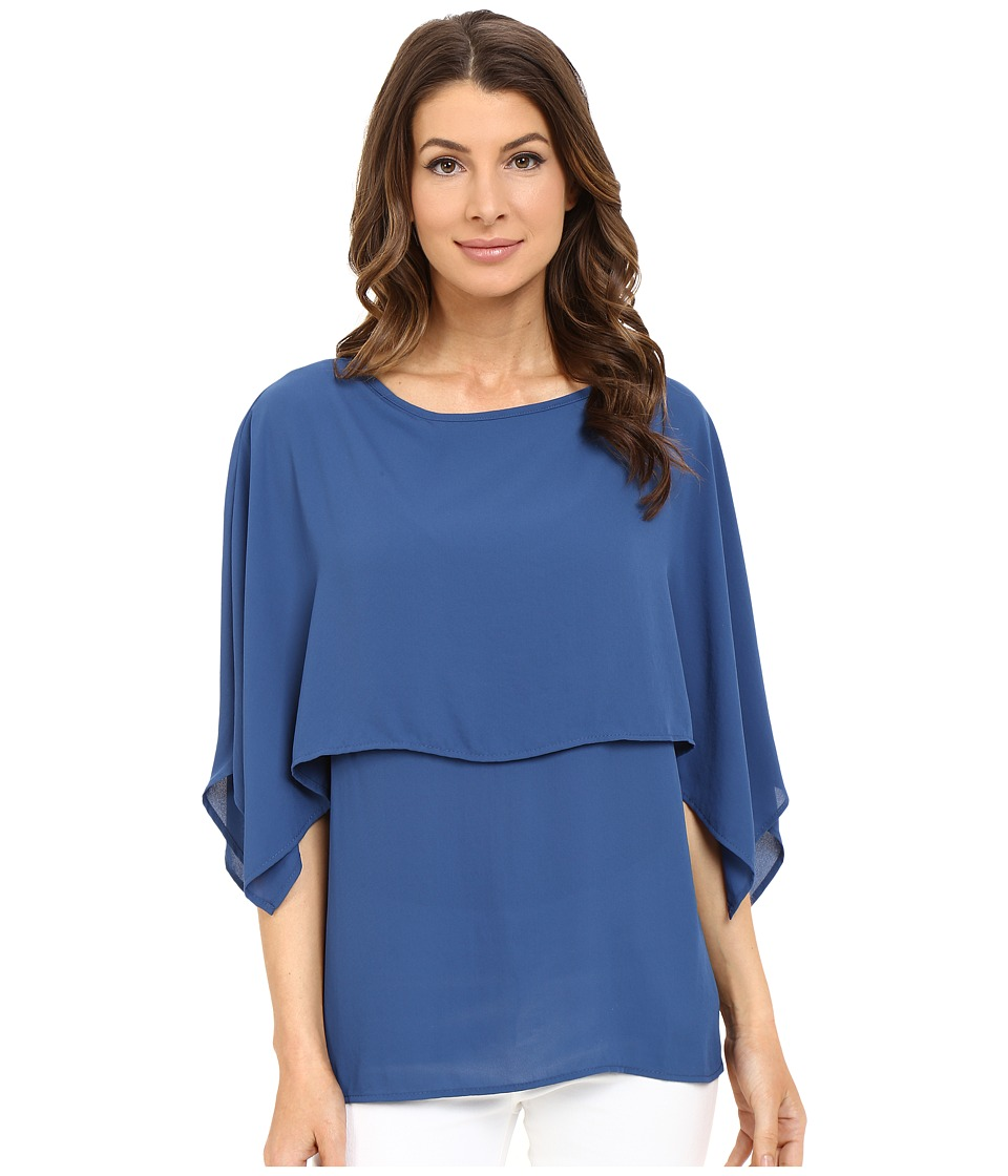 Karen Kane - Double Layer Top (Marine Blue) Women's Blouse