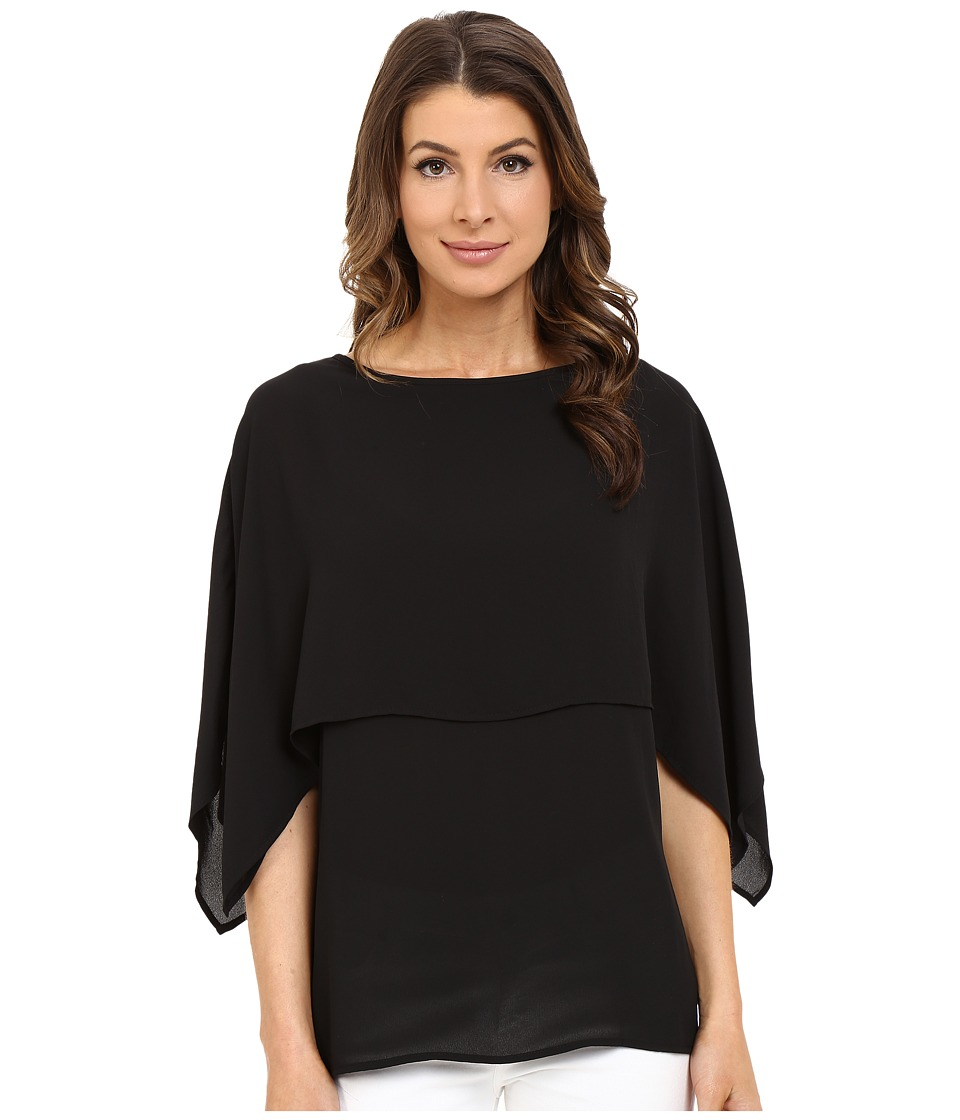 Karen Kane - Double Layer Top (Black) Women's Blouse