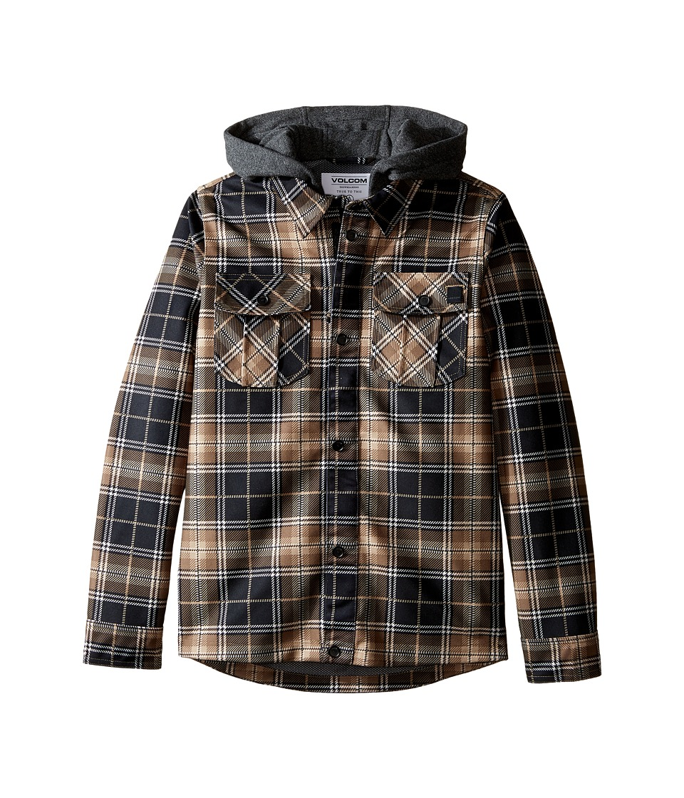 Volcom Kids - Pagoda Flannel Jacket (Big Kids) (Teak) Boy's Coat