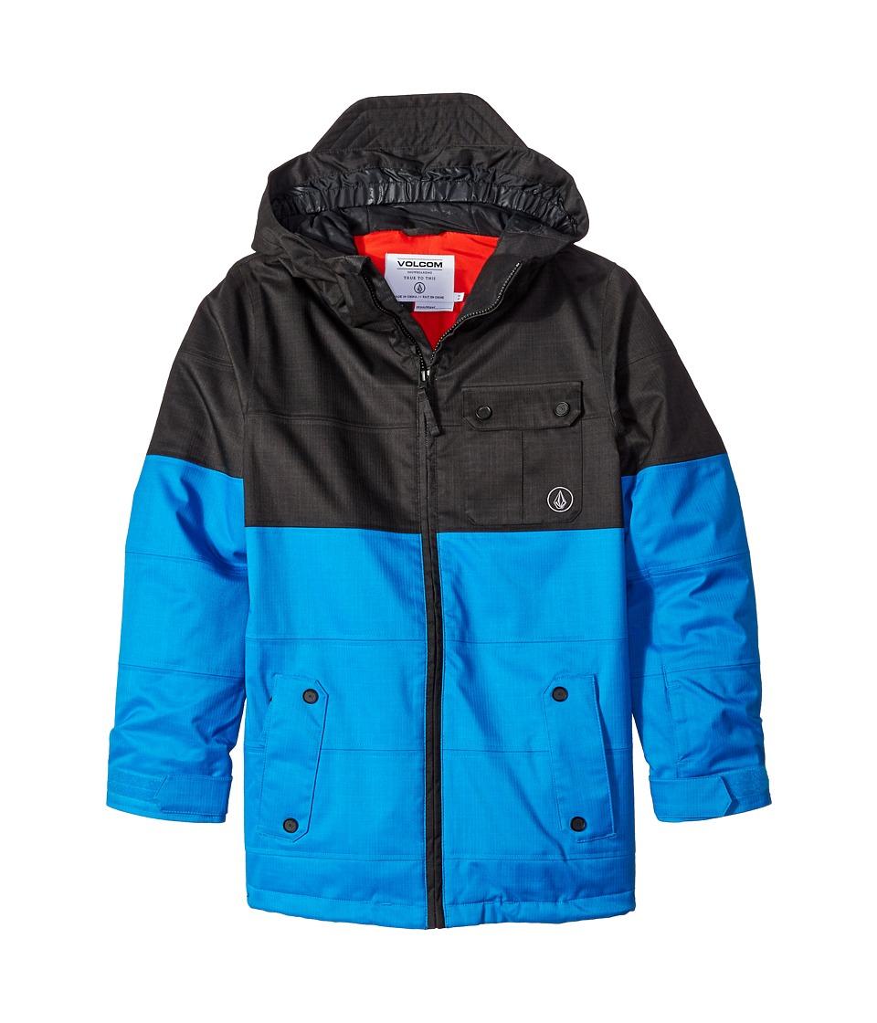 Volcom Kids Cascade INS Jacket (Little Kids/Big Kids) (Cyan Blue) Boy
