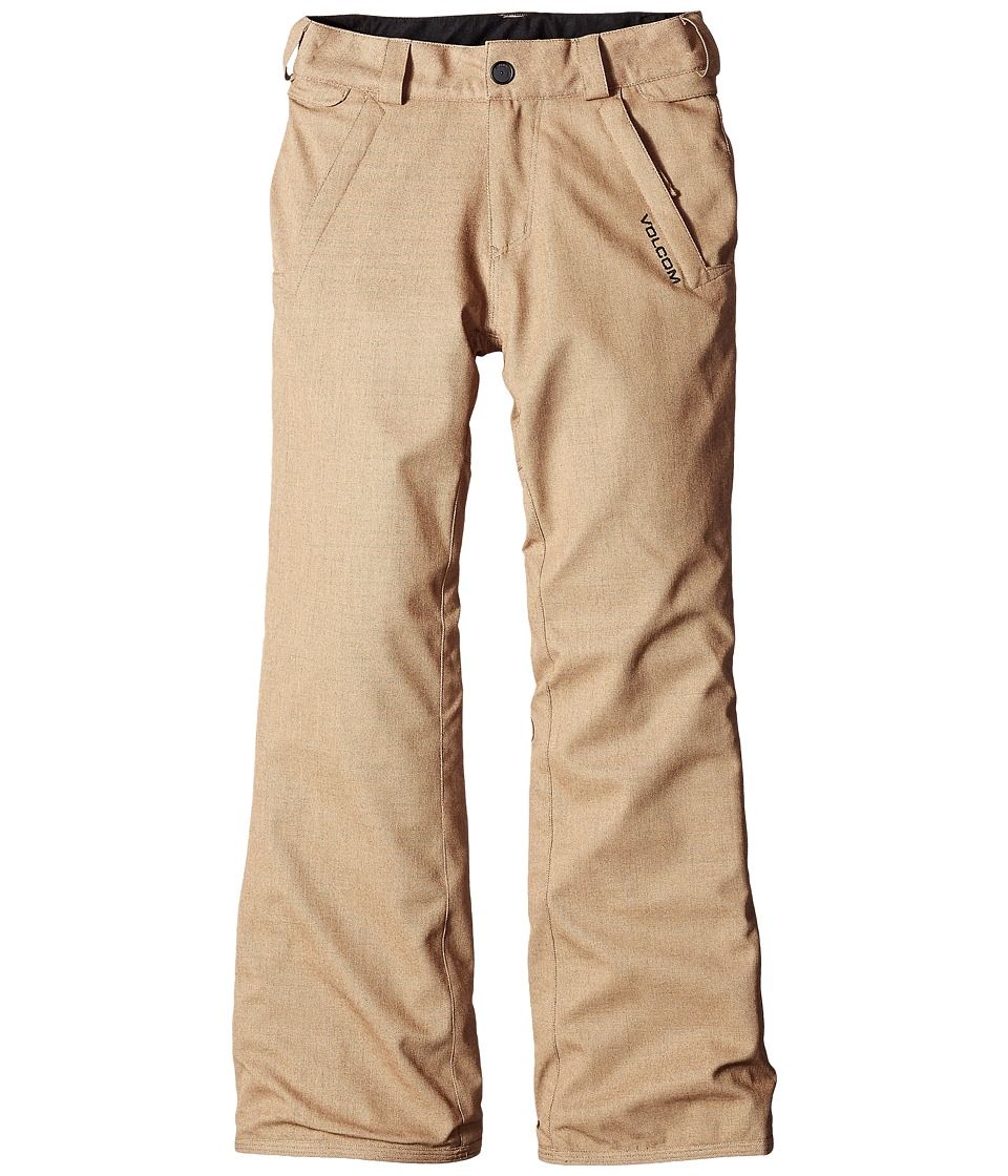 Volcom Kids - Freakin Snow Chino Pants (Big Kids) (Khaki) Boy's Outerwear