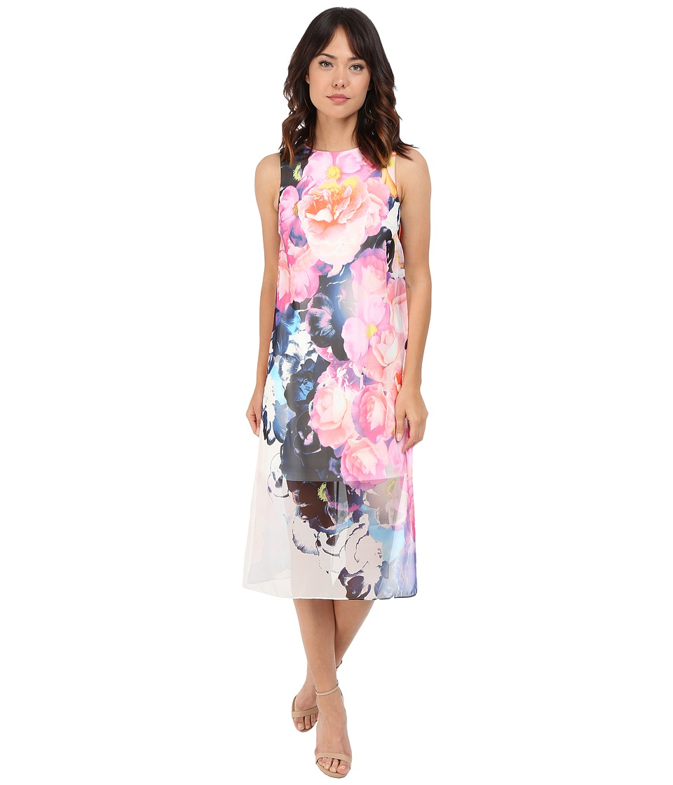 Vince Camuto - Sleeveless Printed Chiffon Midi Dress (Print) Women's Dress