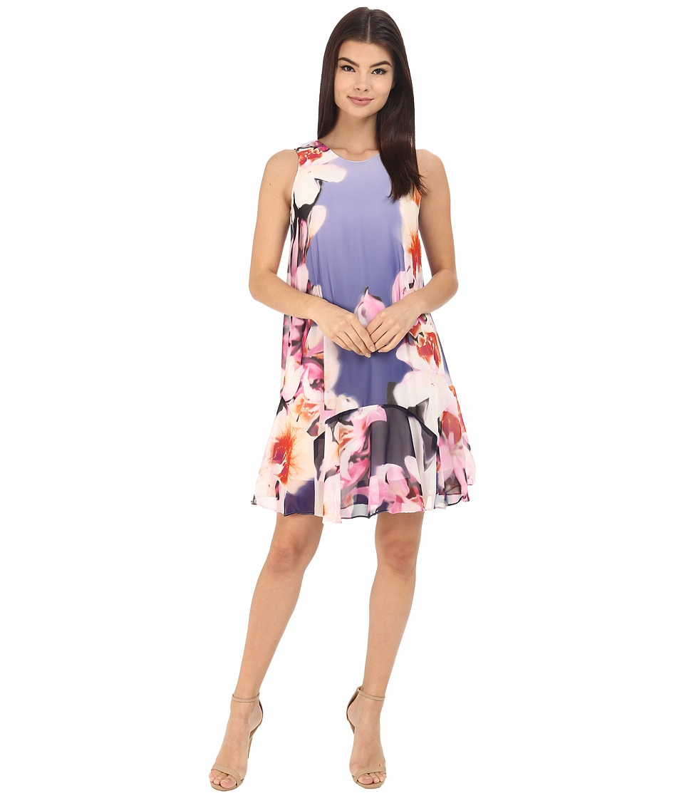 Vince Camuto - Sleeveless Printed Chiffon Shift Dress (Print) Women's Dress