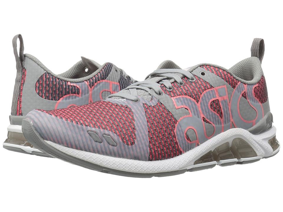 ASICS Tiger Gel-Lytetm One Eighty (Medium Grey/Guava) Shoes