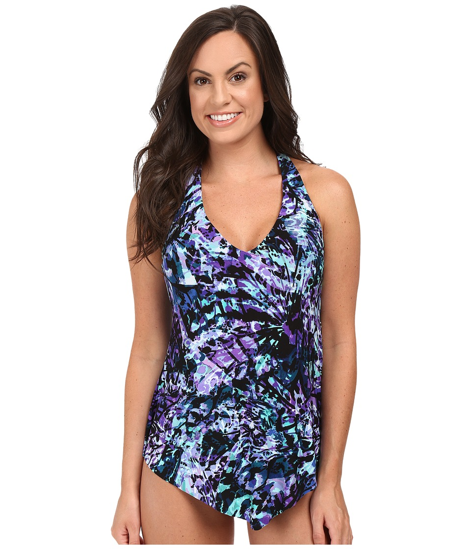 Magicsuit Chasing Butterflies Taylor Top (Purple) Women