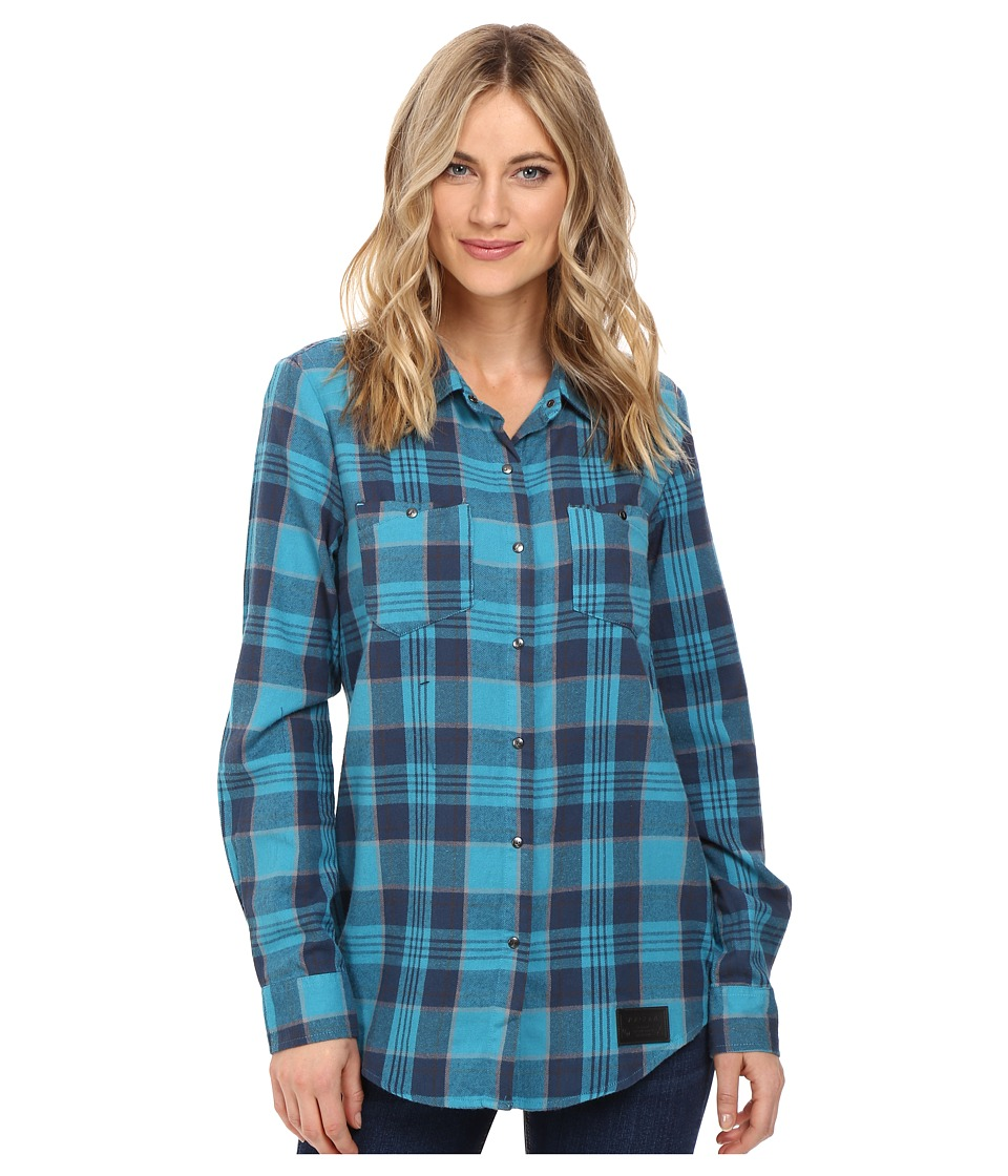 Volcom Snow - Granite Flannel Shirt (Teal) Women's Long Sleeve Button Up
