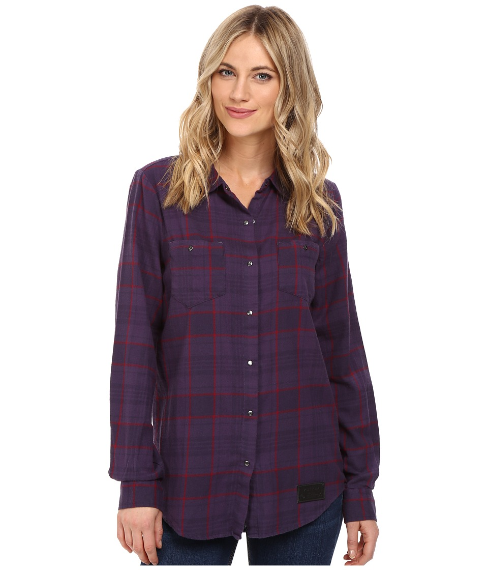 Volcom Snow - Granite Flannel Shirt (Deep Purple) Women's Long Sleeve Button Up