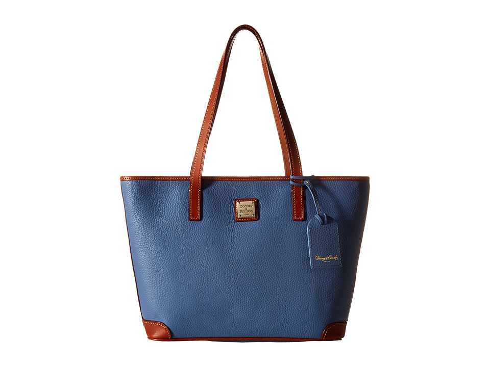 Dooney & Bourke - Charleston Shopper (Dusty Blue/Tan Trim) Tote Handbags