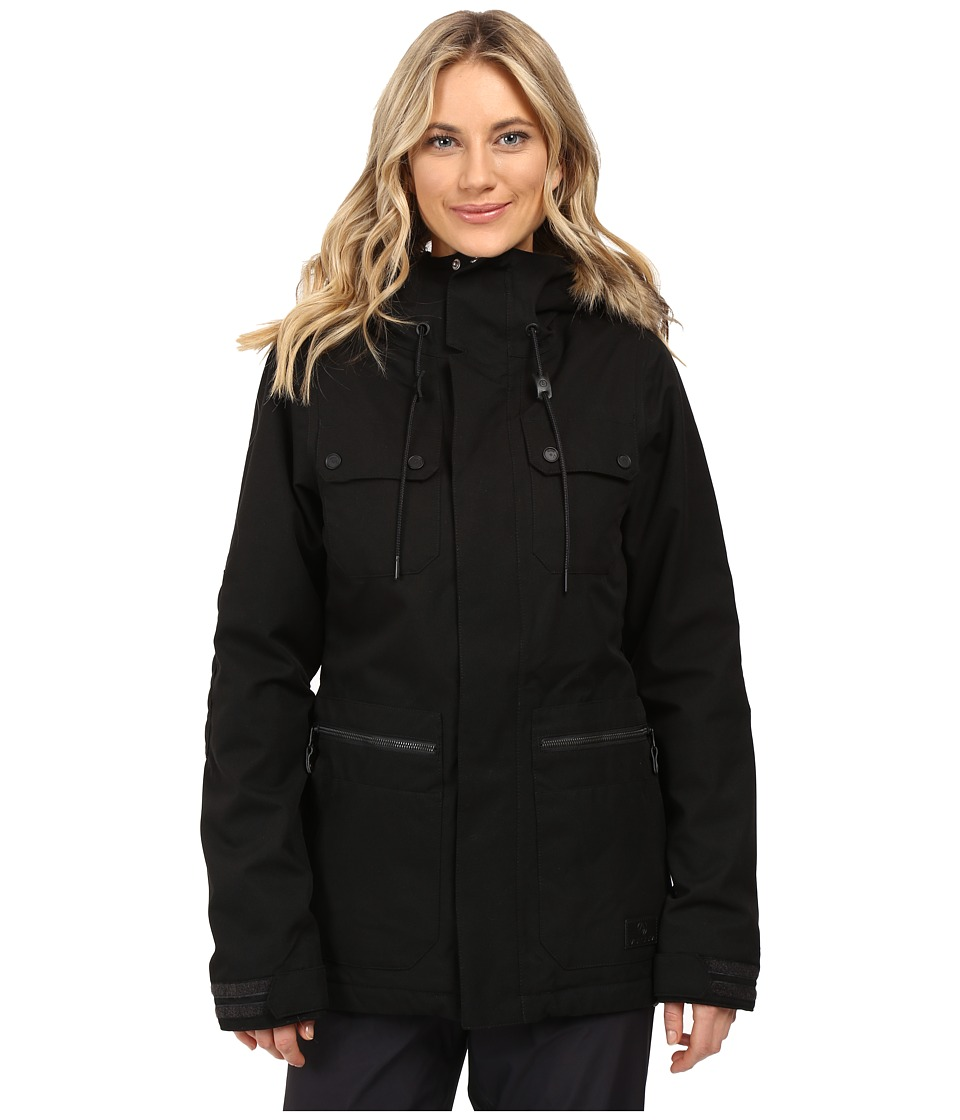 Volcom Snow - Shadow Insulated Jacket (Black) Women's Coat