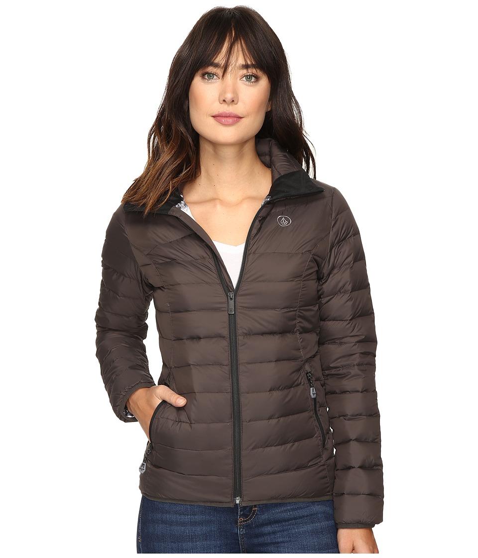 Volcom Snow - Casco Down Puff Jacket (Vintage Black) Women's Coat