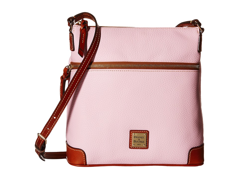 Dooney & Bourke - Pebble Crossbody (Baby Pink/Tan Trim) Cross Body Handbags