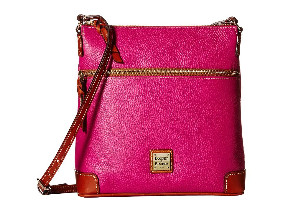 Dooney & Bourke - Pebble Crossbody (Magenta/Tan Trim) Cross Body Handbags