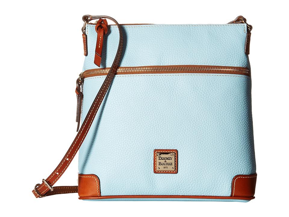 Dooney & Bourke - Pebble Crossbody (Pale Blue/Tan Trim) Cross Body Handbags