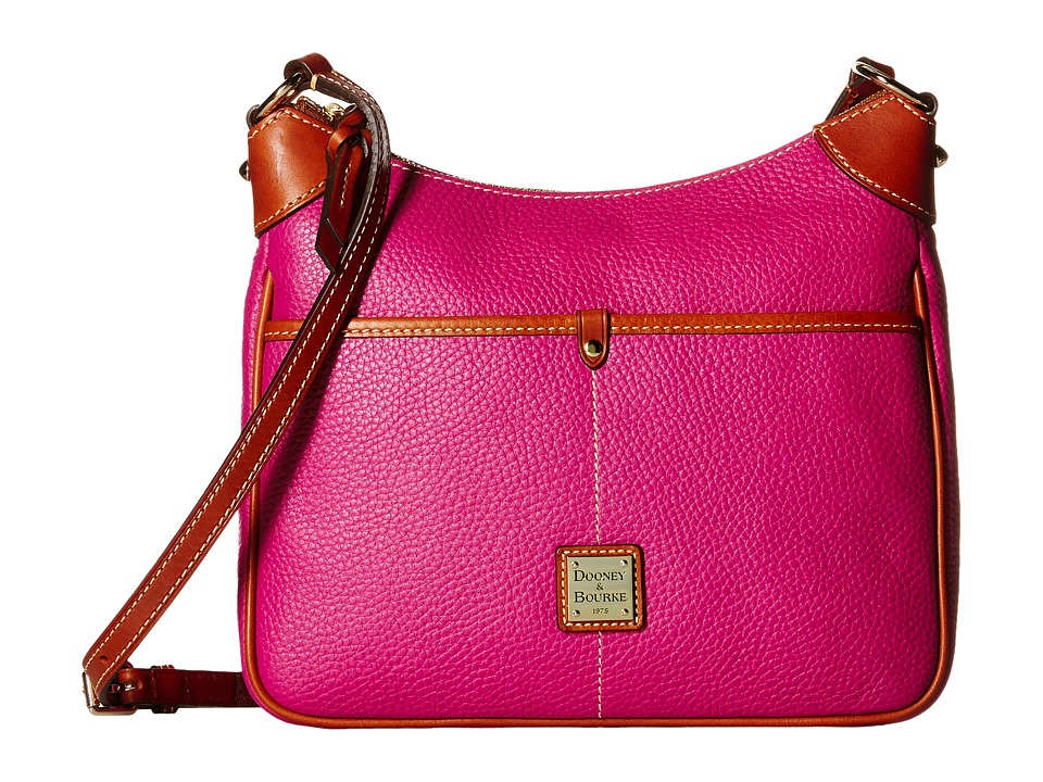Dooney & Bourke - Pebble Kimberly Crossbody (Magenta/Tan Trim) Cross Body Handbags