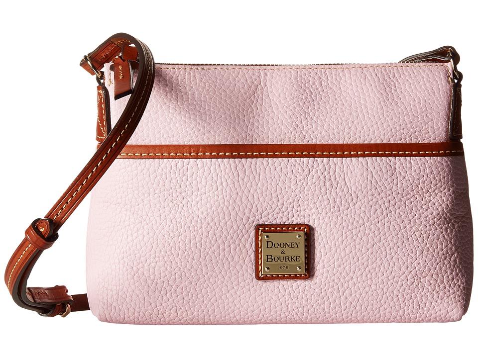 Dooney & Bourke - Pebble Ginger Crossbody (Baby Pink/Tan Trim) Cross Body Handbags