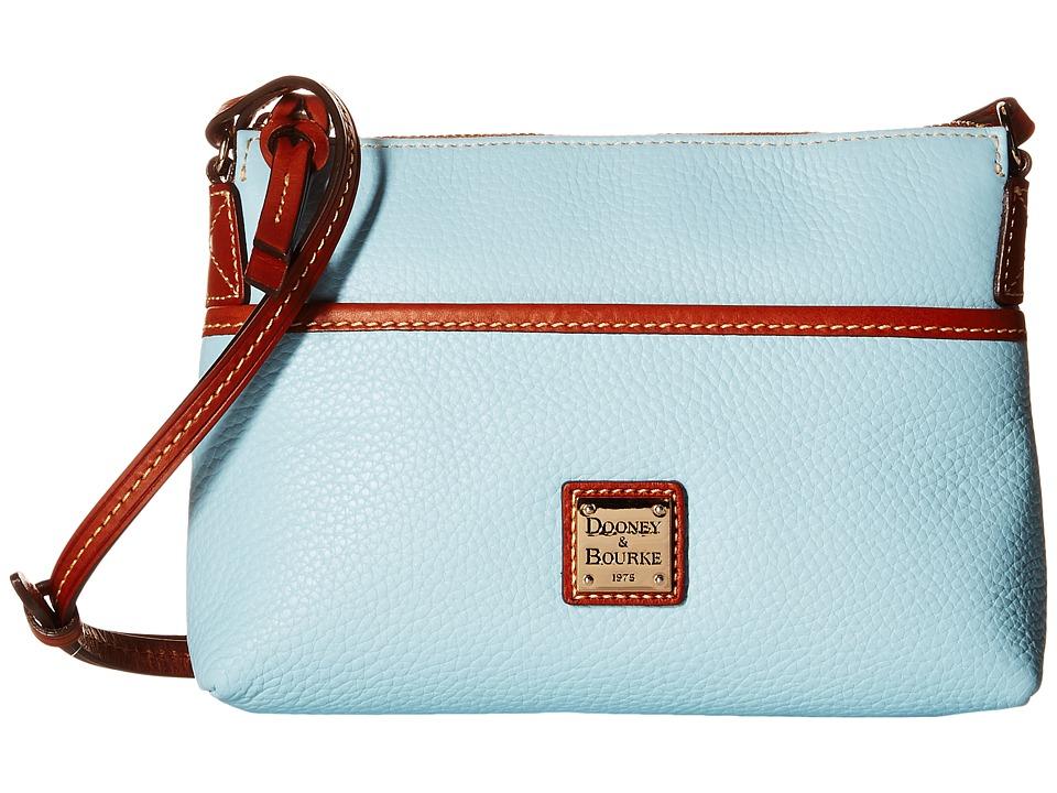 Dooney & Bourke - Pebble Ginger Crossbody (Pale Blue/Tan Trim) Cross Body Handbags