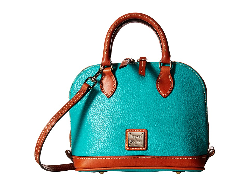 Dooney & Bourke - Pebble Bitsy Bag (Spearmint/Tan Trim) Satchel Handbags