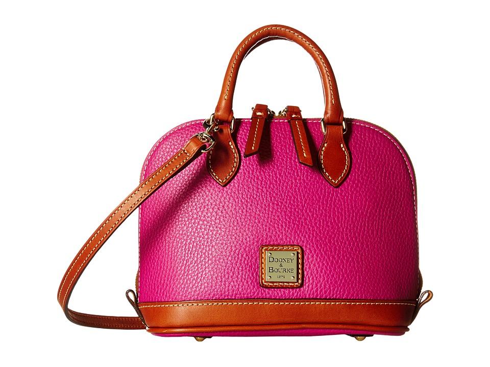 Dooney & Bourke - Pebble Bitsy Bag (Magenta/Tan Trim) Satchel Handbags
