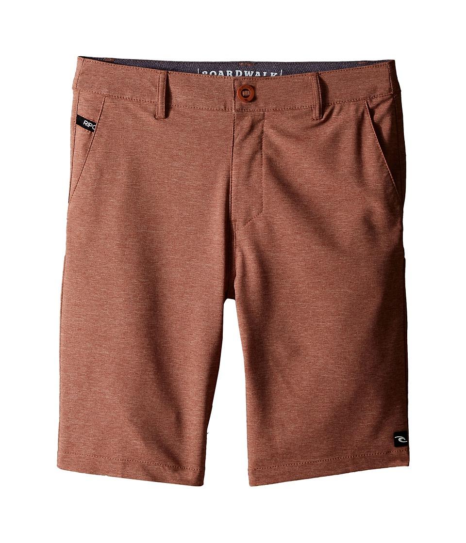 Rip Curl Kids - Mirage Phase Boardwalk Shorts (Big Kids) (Rustic Brown) Boy's Shorts