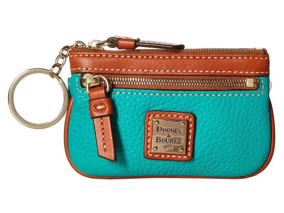 Dooney & Bourke - Pebble Small Coin Case (Spearmint/Tan Trim) Coin Purse