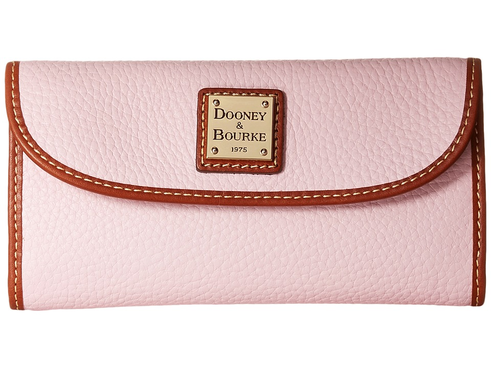 Dooney & Bourke - Pebble Continental Clutch (Baby Pink/Tan Trim) Clutch Handbags