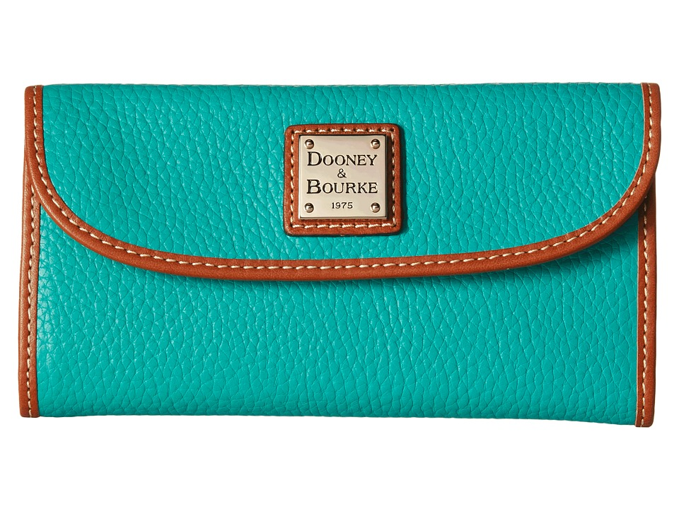 Dooney & Bourke - Pebble Continental Clutch (Spearmint/Tan Trim) Clutch Handbags
