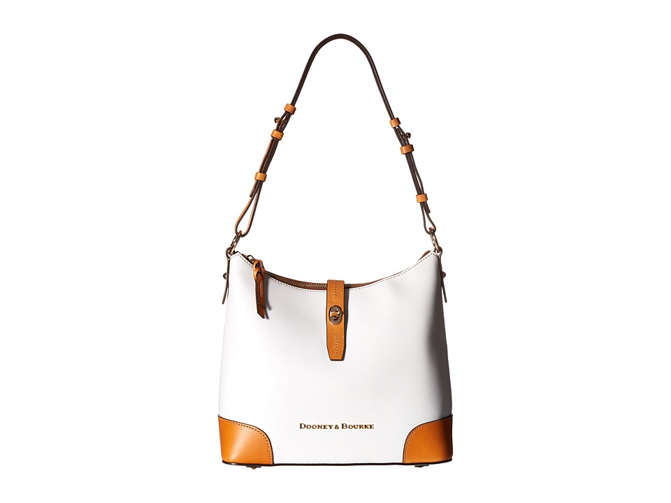 Dooney & Bourke - Claremont Hobo (White/Butterscotch Trim) Hobo Handbags