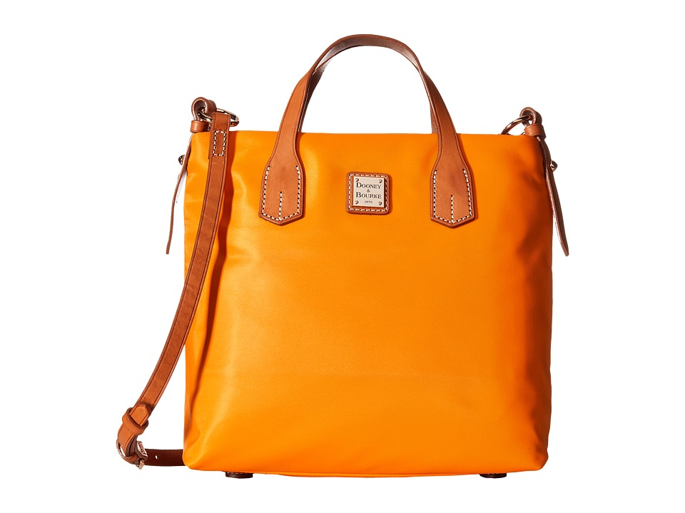 Dooney & Bourke - Windham Cleo Letter Carrier (Orange/Natural Trim) Cross Body Handbags