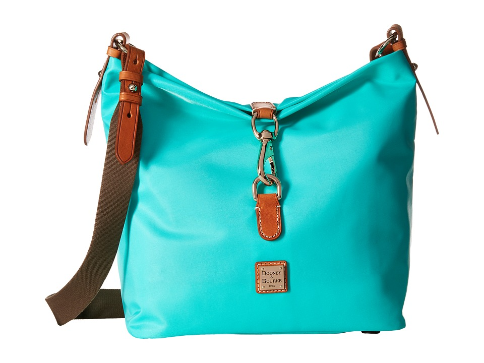 Dooney & Bourke - Windham Annie Satchel (Aqua/Natural Trim) Satchel Handbags