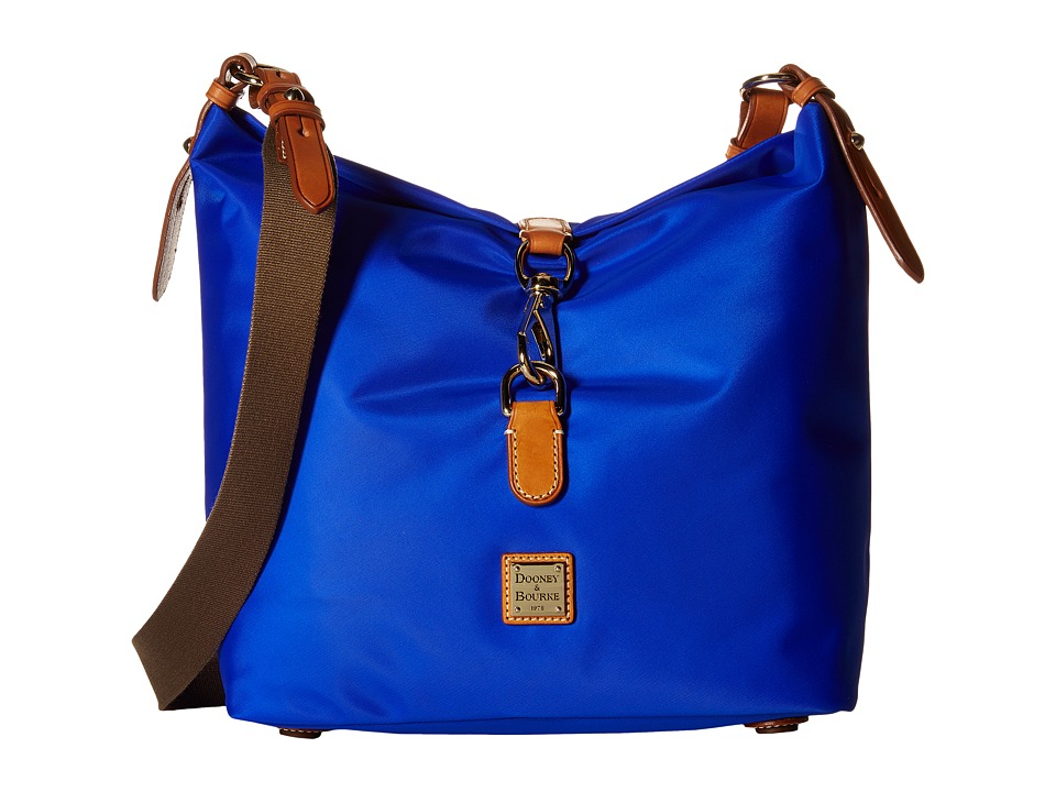 Dooney & Bourke - Windham Annie Satchel (French Blue/Natural Trim) Satchel Handbags