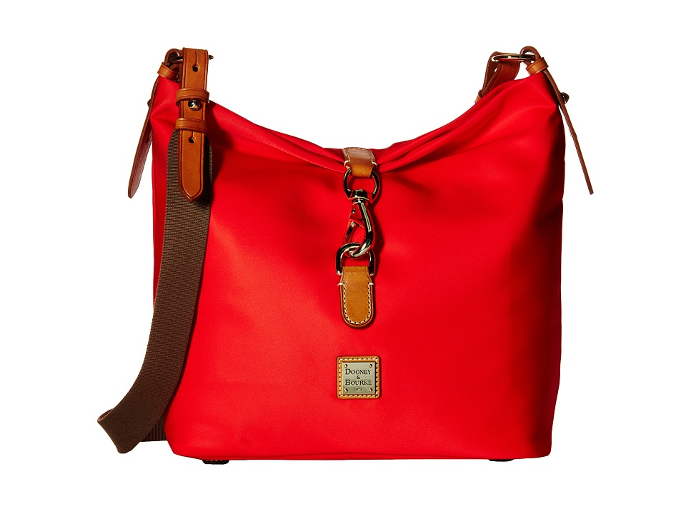 Dooney & Bourke - Windham Annie Satchel (Red/Natural Trim) Satchel Handbags