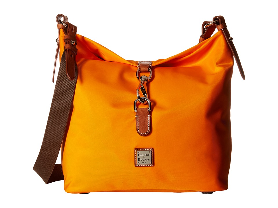 Dooney & Bourke - Windham Annie Satchel (Orange/Natural Trim) Satchel Handbags