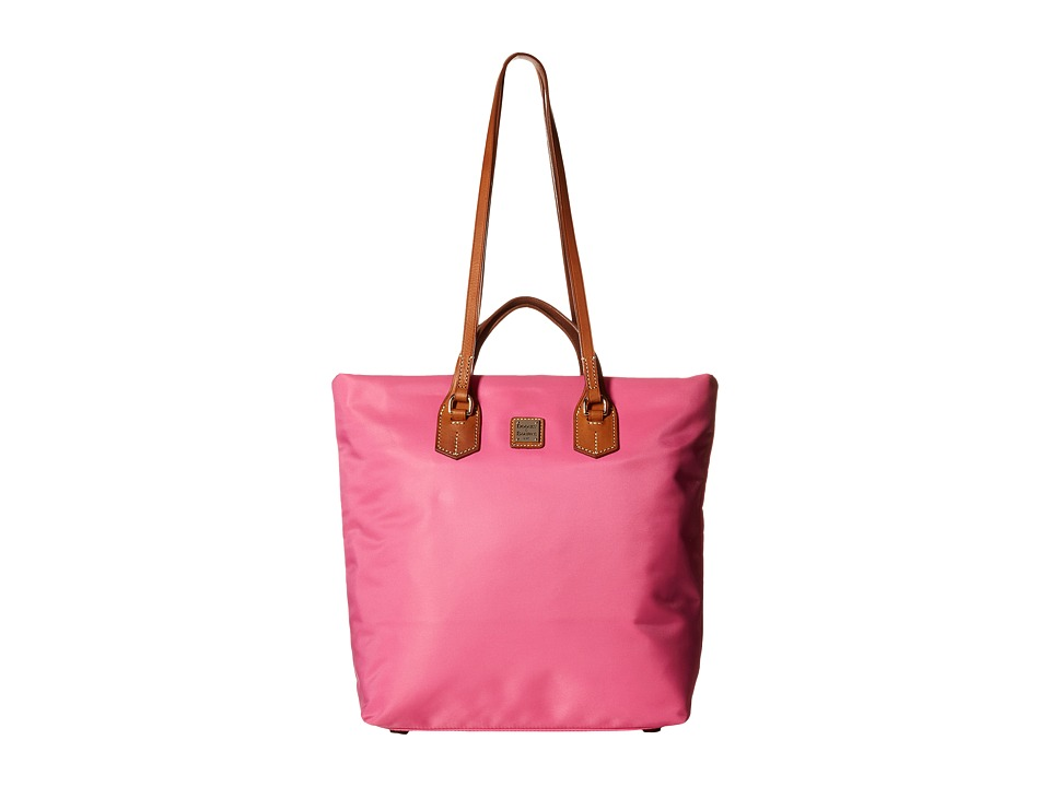Dooney & Bourke - Windham North/South Leighton Tote (Pink/Natural Trim) Tote Handbags