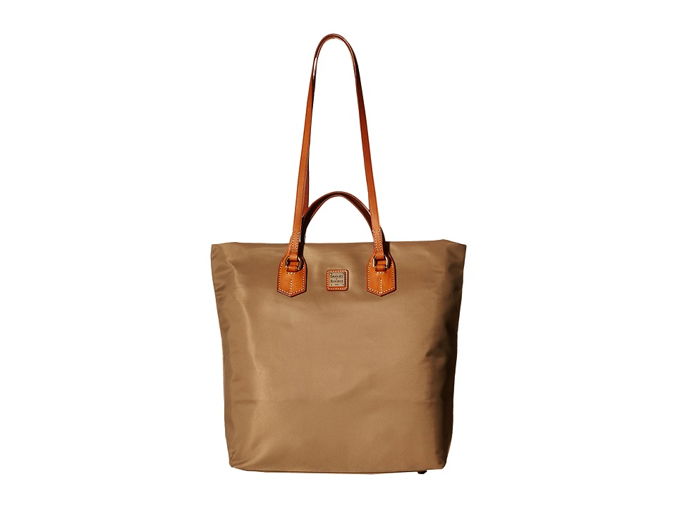 Dooney & Bourke - Windham North/South Leighton Tote (Taupe/Natural Trim) Tote Handbags