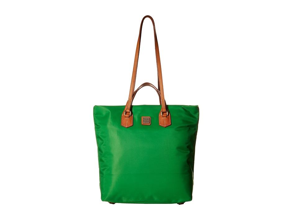 Dooney & Bourke - Windham North/South Leighton Tote (Kelly Green/Natural Trim) Tote Handbags