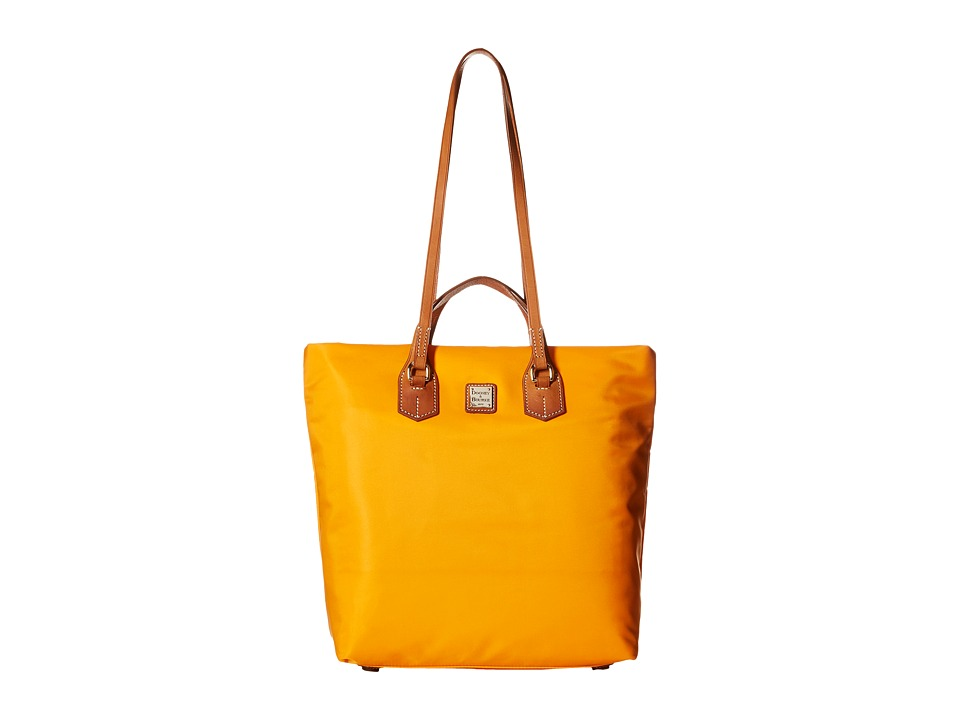 Dooney & Bourke - Windham North/South Leighton Tote (Orange/Natural Trim) Tote Handbags