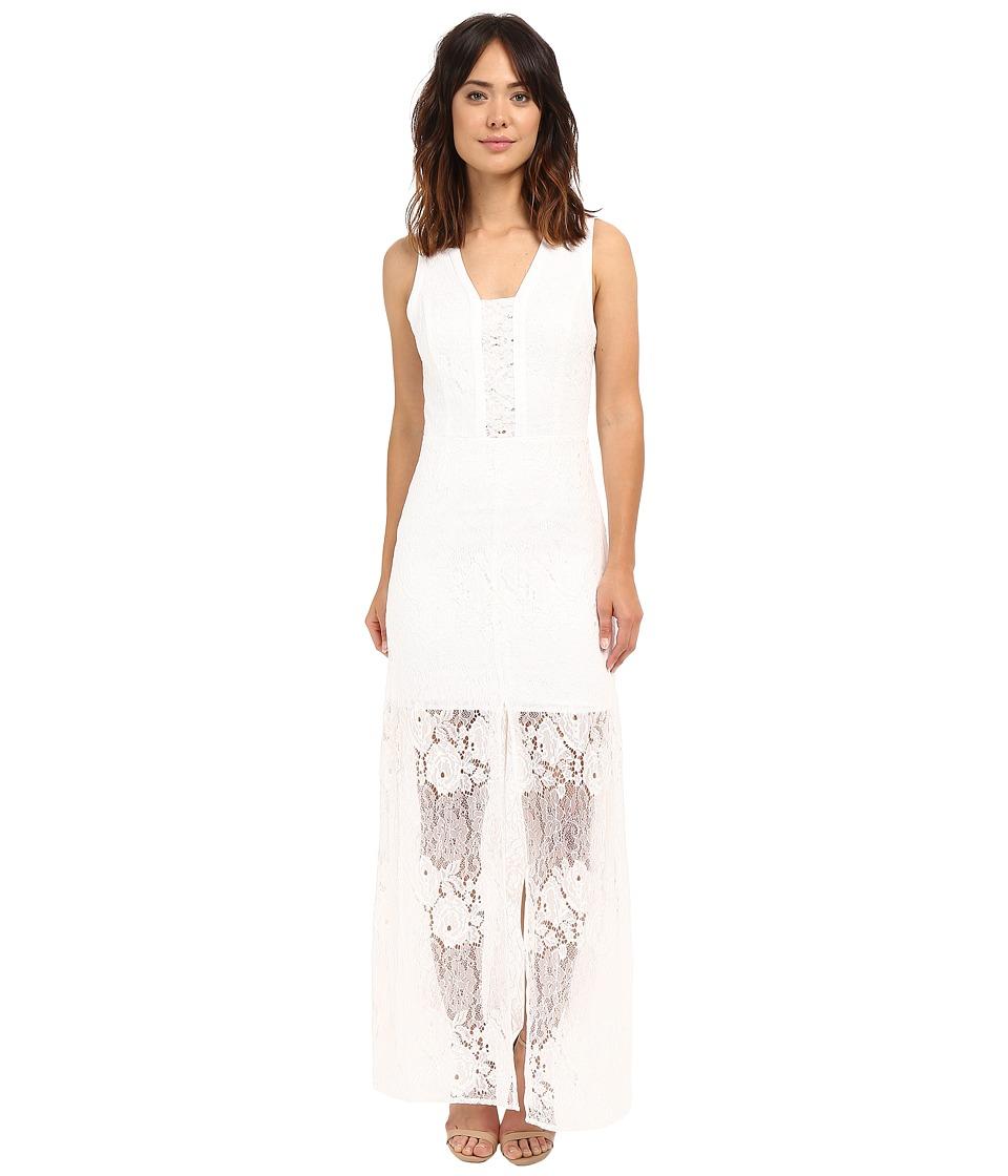 Adelyn Rae Sleeveless Lace Maxi Dress (White) Women