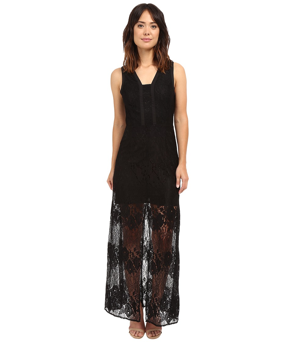 Adelyn Rae Sleeveless Lace Maxi Dress (Black) Women