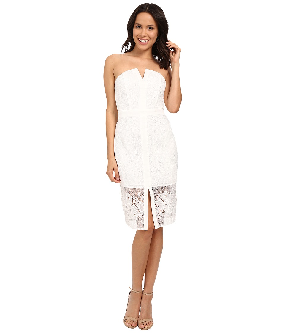 Adelyn Rae - Tube Midi Lace Dress (White) Women's Dress