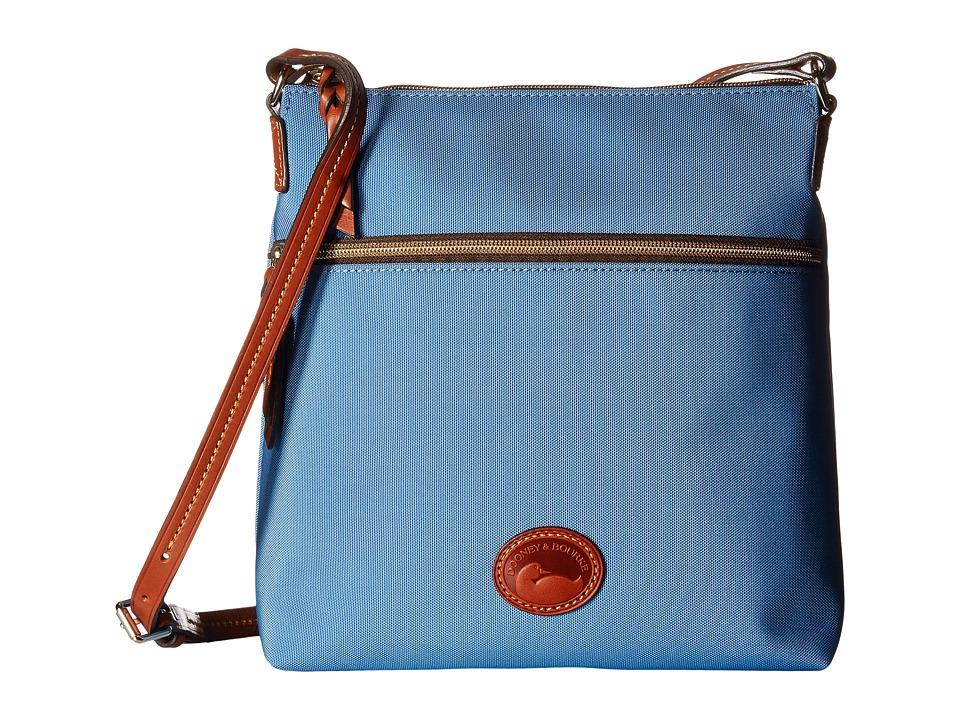 Dooney & Bourke - Nylon Crossbody (Dusty Blue/Tan Trim) Cross Body Handbags