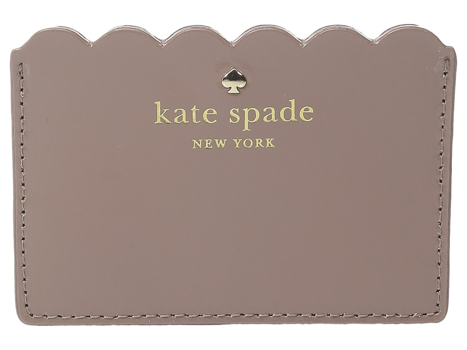 Kate Spade New York - Lily Avenue Patent Card Holder (Porcini/Rose Taupe) Credit card Wallet