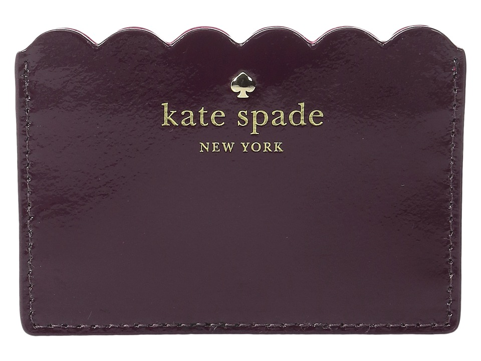 Kate Spade New York - Lily Avenue Patent Card Holder (Mahogany/Radish) Credit card Wallet