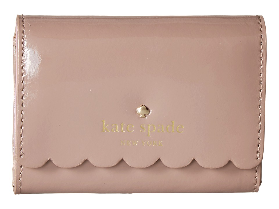 Kate Spade New York - Lily Avenue Patent Darla (Porcini/Rose Taupe) Wallet
