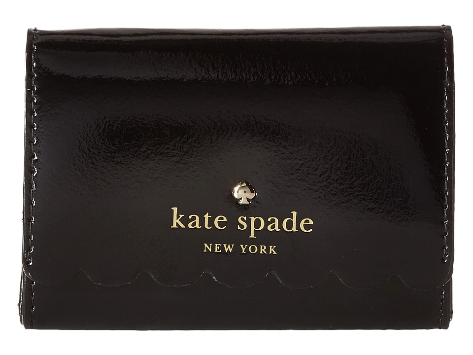 Kate Spade New York - Lily Avenue Patent Darla (Black/Crisp Linen) Wallet