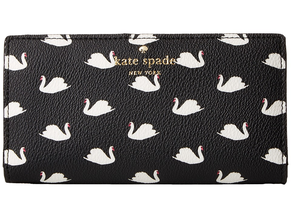 Kate Spade New York - Hawthorne Lane Swans Stacy (Black Multi) Wallet