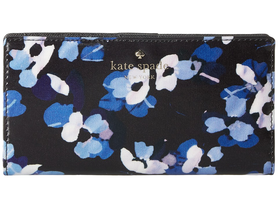 Kate Spade New York - Cedar Street Floral Stacy (Black Multi 1) Checkbook Wallet